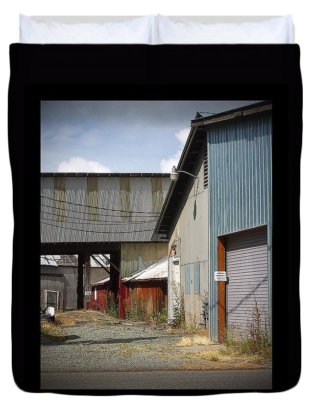 Corrugated Duvet Cover featuring the photograph Corrugated by Tim Nyberg