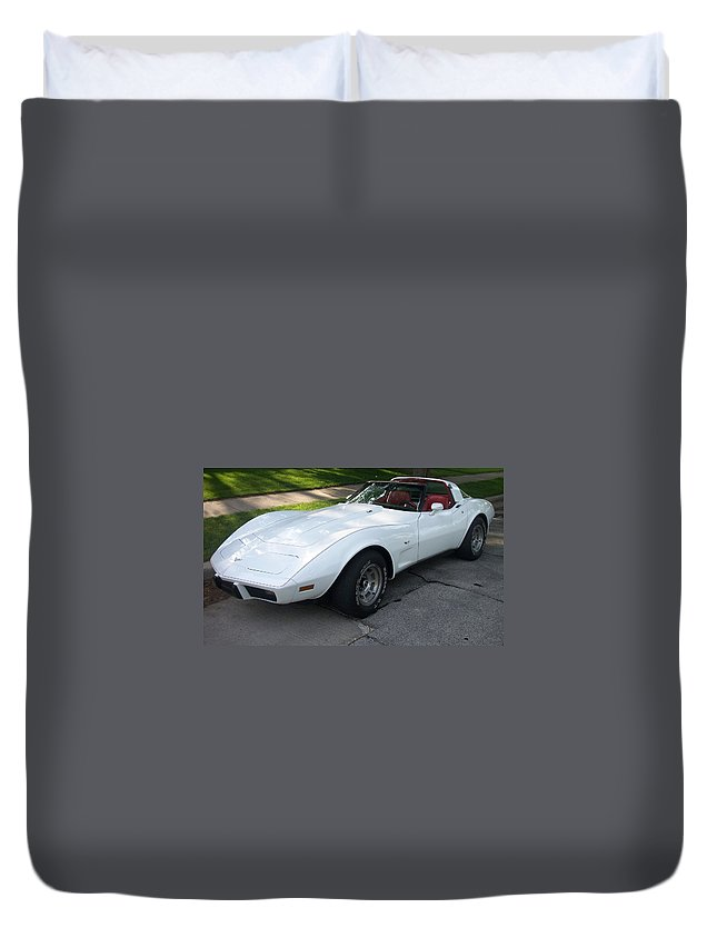 Corvette Duvet Cover featuring the photograph Corvette 1 by Anita Burgermeister