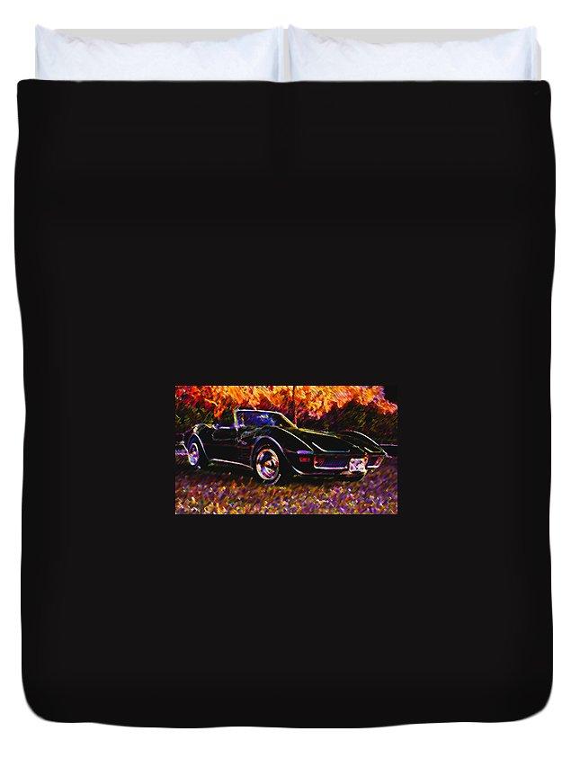 Corvette Duvet Cover featuring the photograph Corvette Beauty by Stephen Anderson