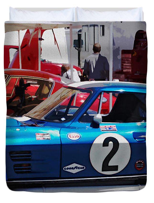 Corvette Duvet Cover featuring the photograph Corvette Grand Sport 1963 by Curt Johnson