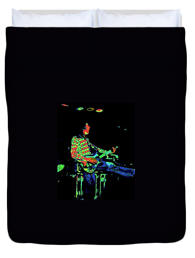 Rock Musicians Duvet Cover featuring the photograph Cosmic Bullfrog Blues by Ben Upham
