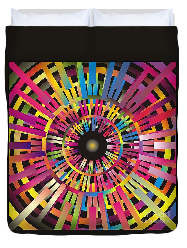 Cosmos Duvet Cover featuring the digital art Cosmic Calibrator by Walter Oliver Neal