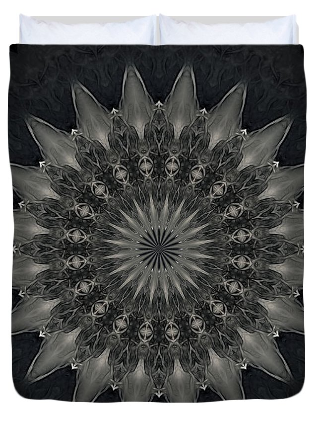 Mandala Duvet Cover featuring the photograph Cosmic Mandala by Thomas MacPherson Jr