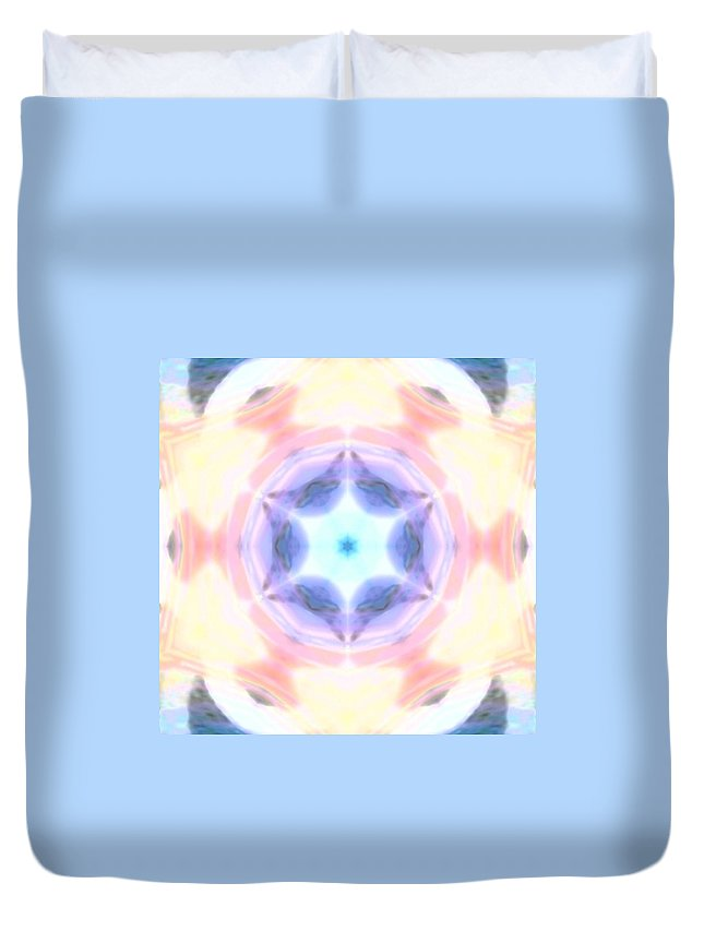 Spectrum Duvet Cover featuring the mixed media Cosmic Portal by Cosmic Child