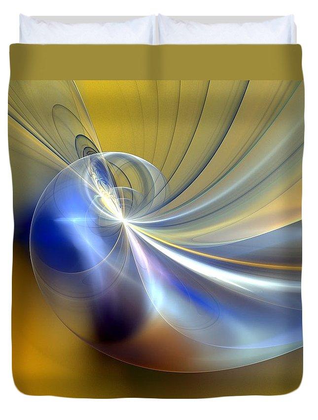 Digital Painting Duvet Cover featuring the digital art Cosmic Shellgame by David Lane
