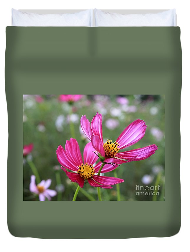 Cosmos Duvet Cover featuring the photograph Cosmos In Tokyo by Carol Groenen