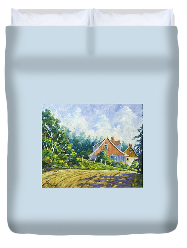 Art Duvet Cover featuring the painting Cote Ste Anne De Beaupre by Richard T Pranke