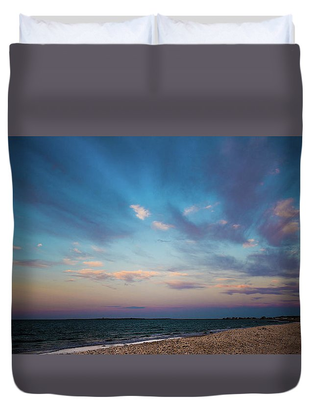 Sky Duvet Cover featuring the photograph Cotton Candy Sky by Mark Majndle