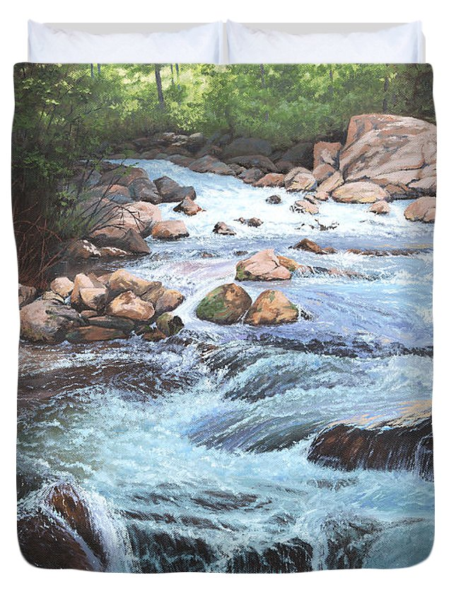 Cotton Wood Creek 4 Duvet Cover For Sale By Artell Harris