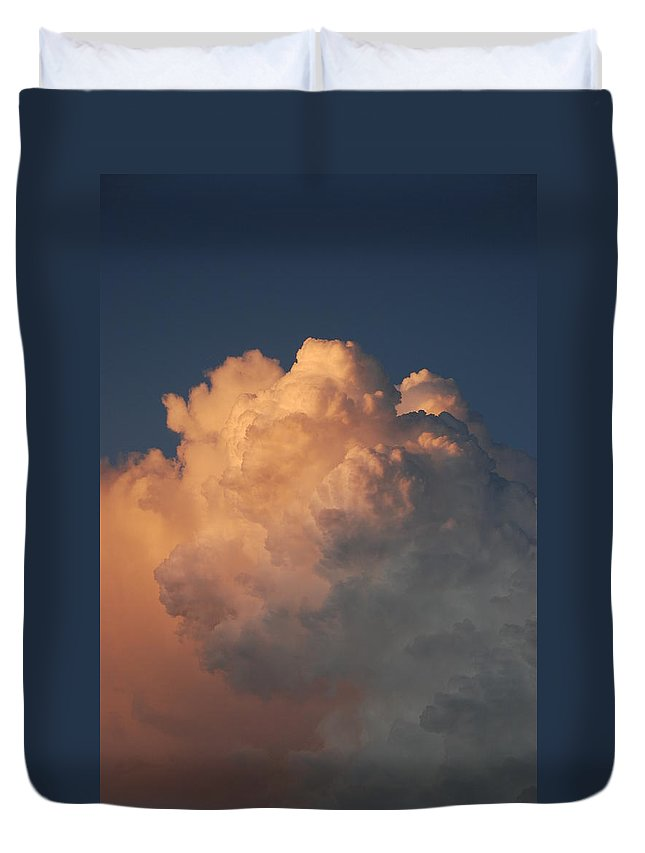 Clouds Duvet Cover featuring the photograph Cottonballs by Rob Hans
