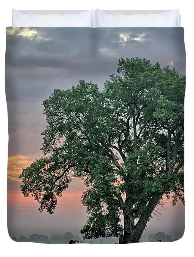 Cottonwood Duvet Cover featuring the photograph Cottonwood Pasture 2 by Bonfire Photography