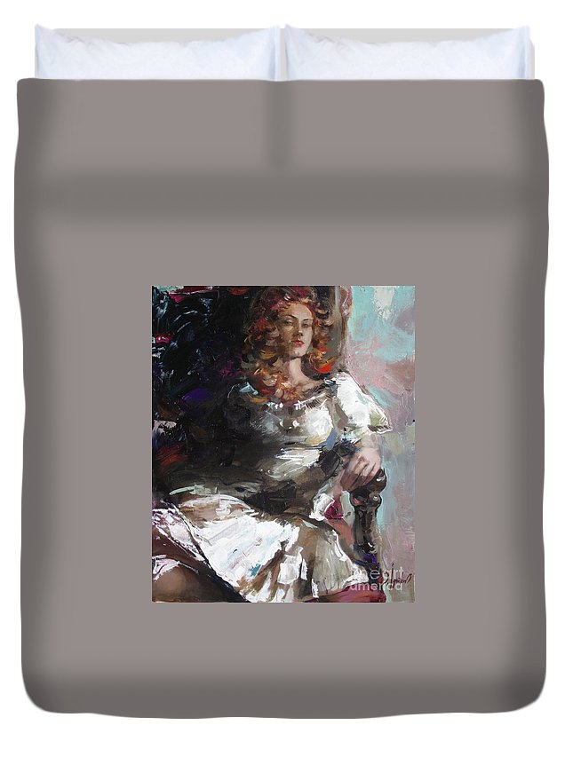 Ignatenko Duvet Cover featuring the painting Countess by Sergey Ignatenko
