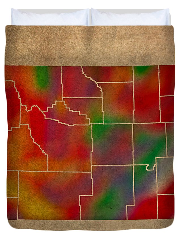 Wyoming Mixed Media Duvet Covers