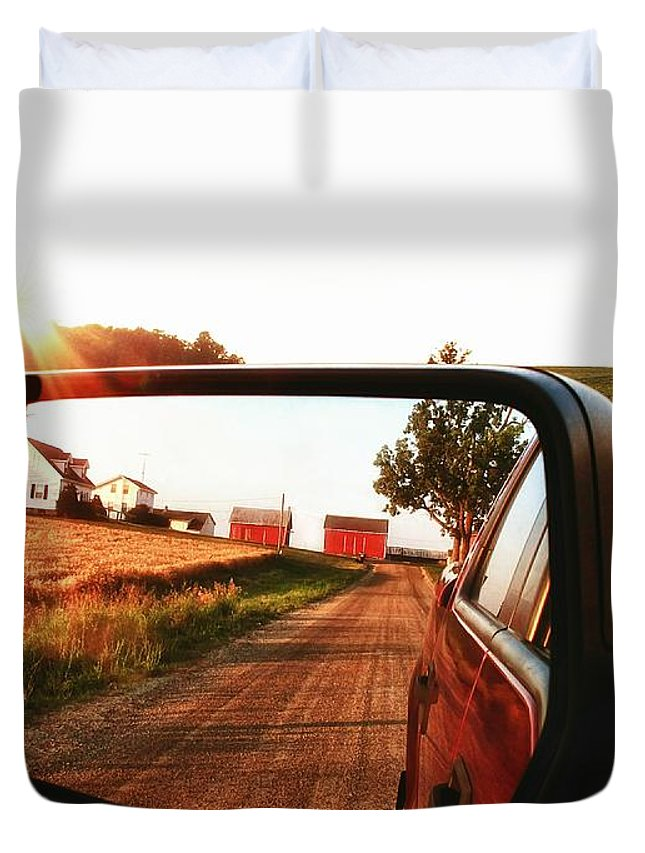Country Duvet Cover featuring the photograph Country Boys by Pat Cook