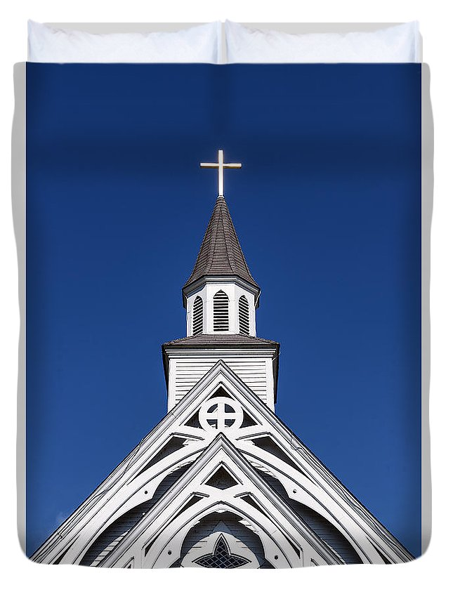 Connecticut Duvet Cover featuring the photograph Country Church by John Greim