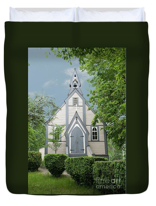 Church Duvet Cover featuring the photograph Country Church by Rod Wiens