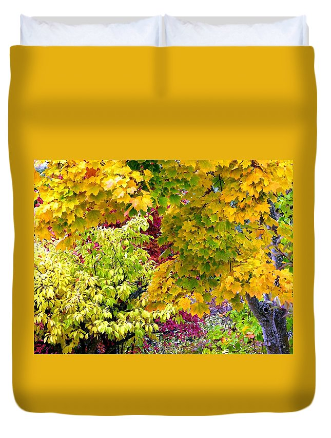 Autumn Duvet Cover featuring the photograph Country Color 15 by Will Borden