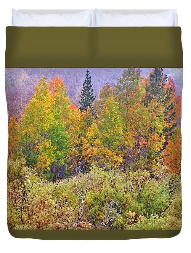 Mountains Duvet Cover featuring the photograph Country Colors by Marilyn Diaz