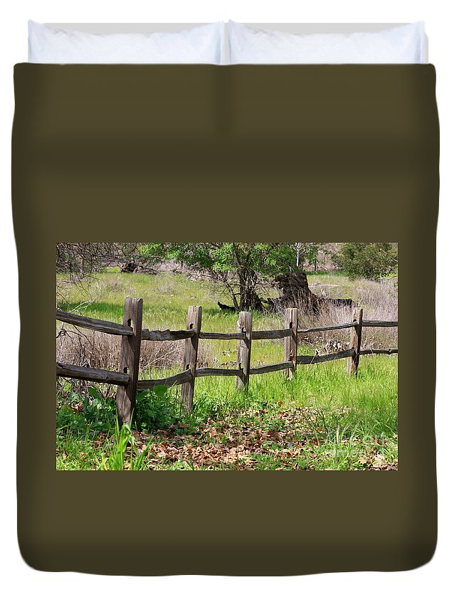 Country Fence Duvet Cover featuring the photograph Country Fence by Carol Groenen