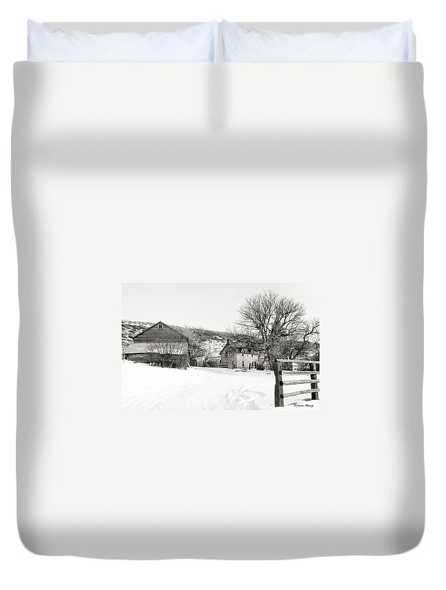 Country Duvet Cover featuring the photograph Country Home by Susan Kinney