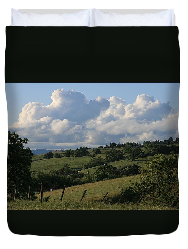 Landscape Duvet Cover featuring the photograph Country Living by Barbara Rawson