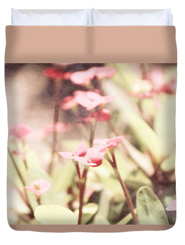 Prism Pink Duvet Cover featuring the photograph Country Memories in Prism Pink by Colleen Cornelius