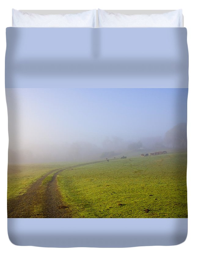 Road Duvet Cover featuring the photograph Country Roads by Mike Dawson