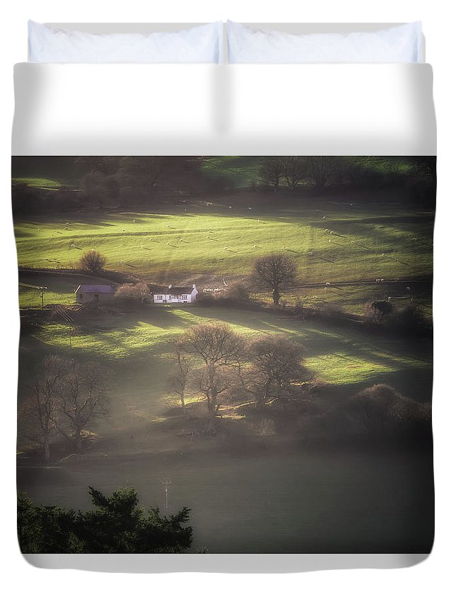 Agriculture Duvet Cover featuring the photograph Countryside Dreaming by Chris Fletcher