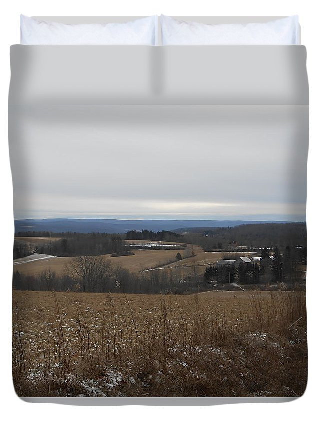 Country Duvet Cover featuring the photograph Countryside View by Jeremiah Wilson