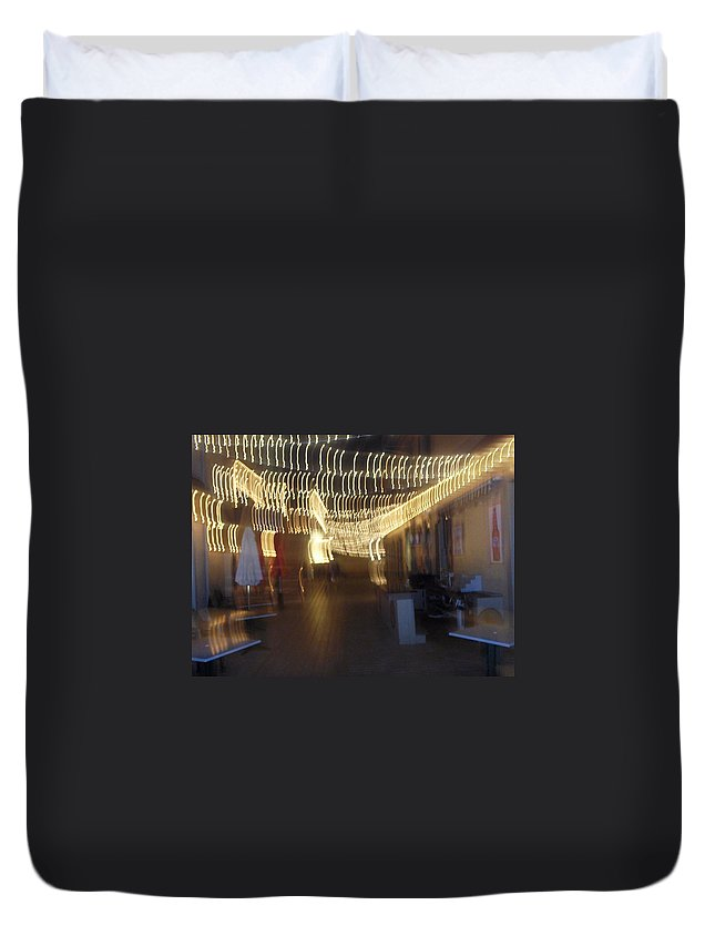 Photograph Duvet Cover featuring the photograph Courtside Lounge by Thomas Valentine