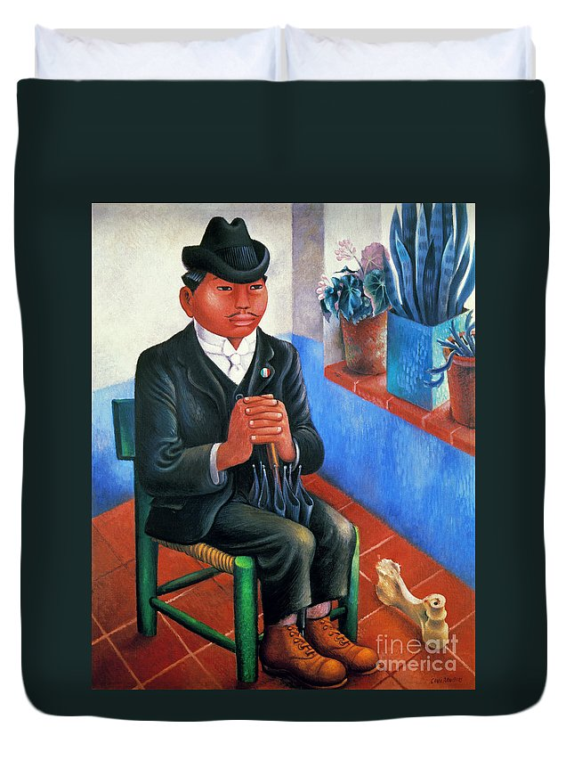 1930s Duvet Cover featuring the photograph Covarrubias: The Bone by Granger