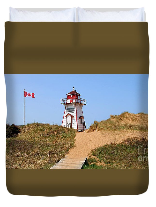 Prince Edward Island Duvet Cover featuring the photograph Covehead Harbour Lighthouse 5701 by Jack Schultz