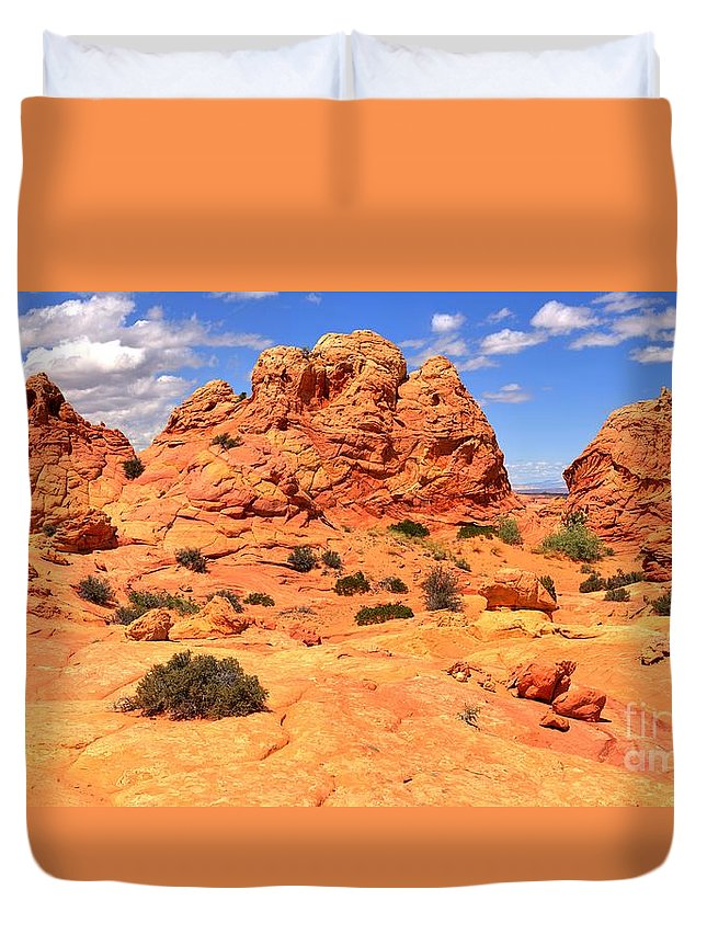 Utah Panorama Duvet Cover featuring the photograph Coyote Buttes Pastel Landscape by Adam Jewell