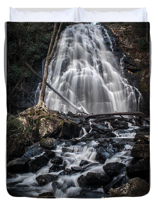 Asheville Duvet Cover featuring the photograph Crabtree Falls by Brittany Jordan