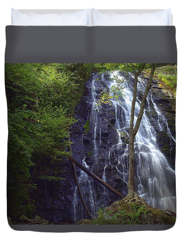 Crabtree Falls Duvet Cover featuring the photograph Crabtree Falls by Wayne Wheless
