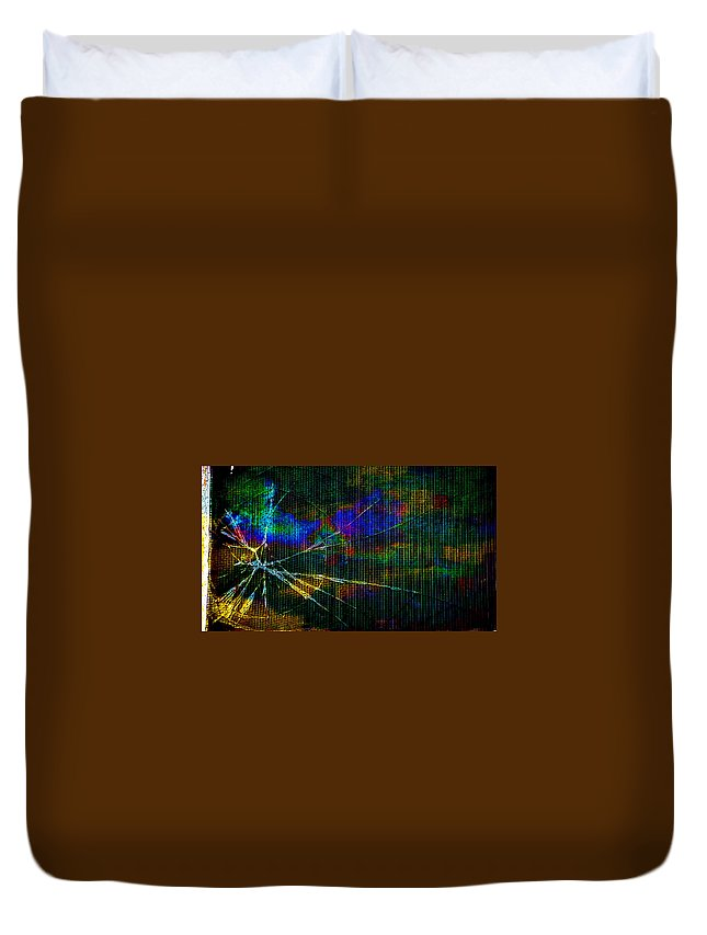 Abstract Duvet Cover featuring the photograph Cracked by Randi Grace Nilsberg