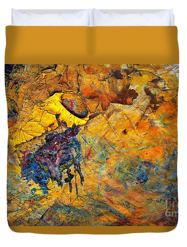 Detail Duvet Cover featuring the painting Craftsmanship by Michal Boubin