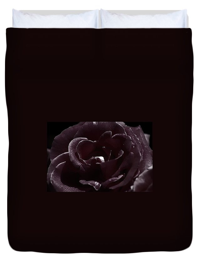 Clay Duvet Cover featuring the photograph Cranberry Rose by Clayton Bruster