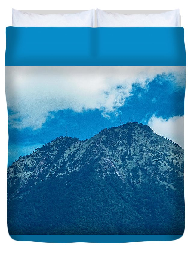 Antigua Guatemala Duvet Cover featuring the photograph Crater Volcan De Agua by Totto Ponce