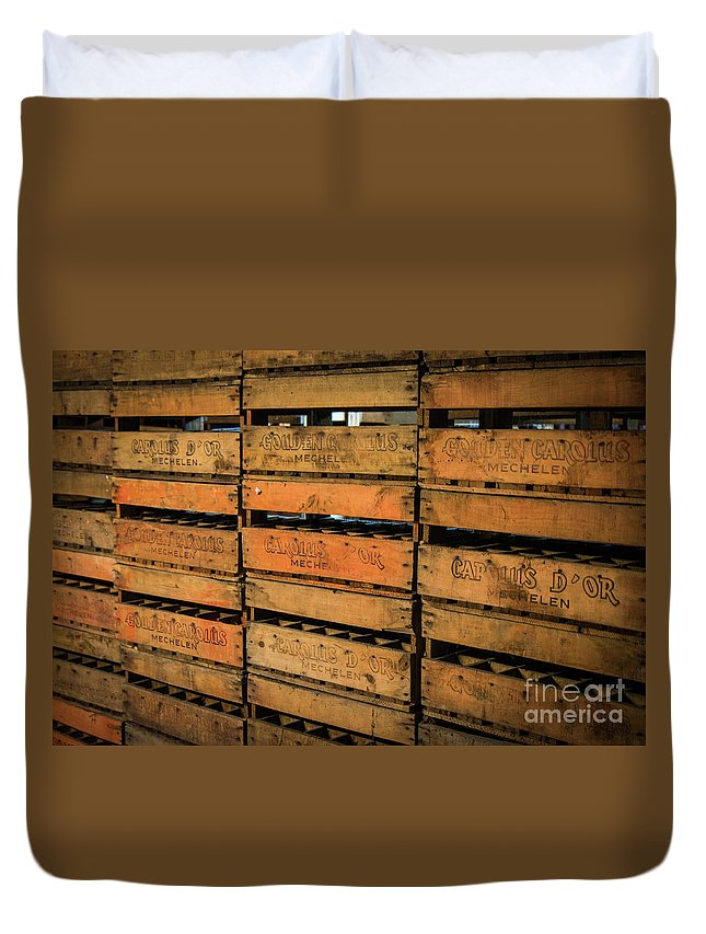 Brewery Duvet Cover featuring the photograph Crate's by Brothers Beerens