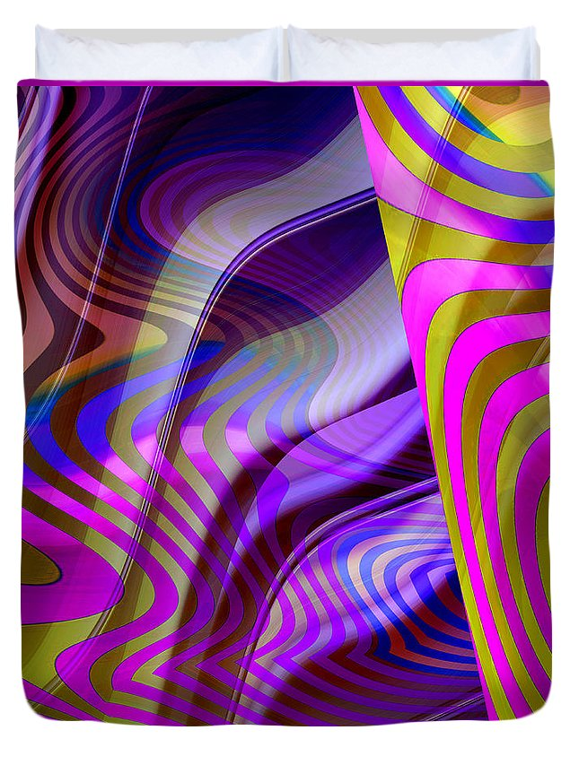 ruth Palmer Duvet Cover featuring the digital art Crazy Busy by Ruth Palmer