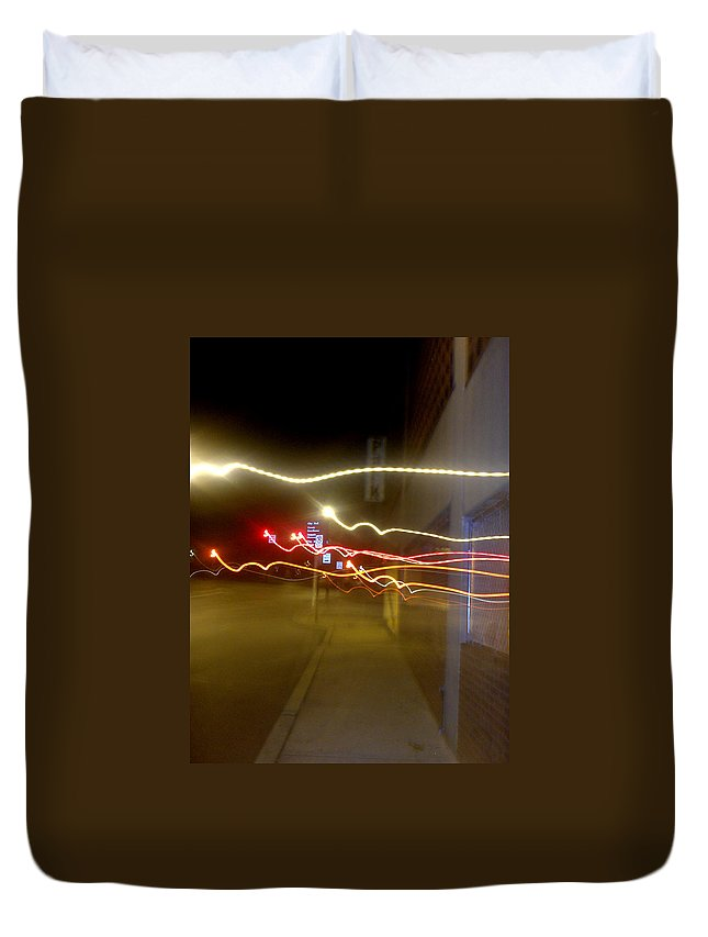 Photograph Duvet Cover featuring the photograph Crazy Duke Street Lights by Thomas Valentine