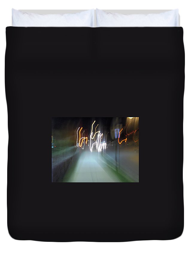 Photograph Duvet Cover featuring the photograph Crazy Lights by Thomas Valentine