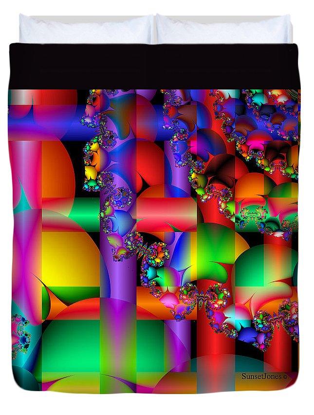 Crazy Duvet Cover featuring the digital art Crazy Love by Robert Orinski