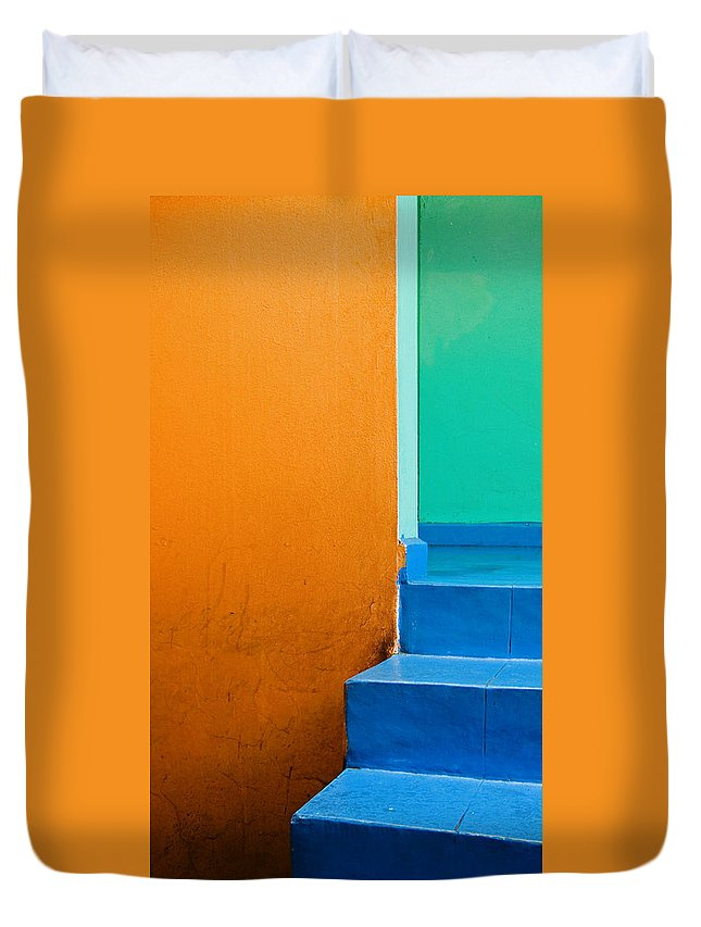 Oaxaca Duvet Cover featuring the photograph Creamsicle by Skip Hunt