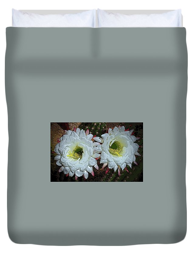 Image Duvet Cover featuring the photograph Created By A Cactus by Christina Boggs