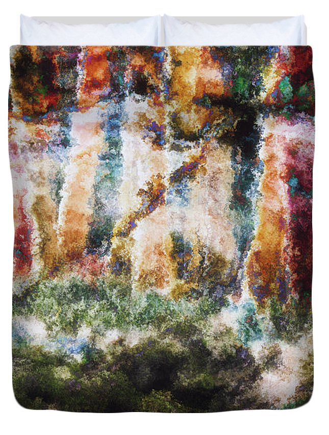 Abstract Duvet Cover featuring the photograph Creation by Davy Cheng