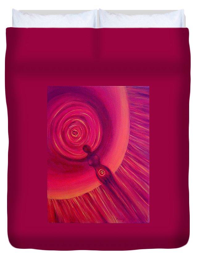 Original Duvet Cover featuring the painting Creativity by Melissa Joyfully
