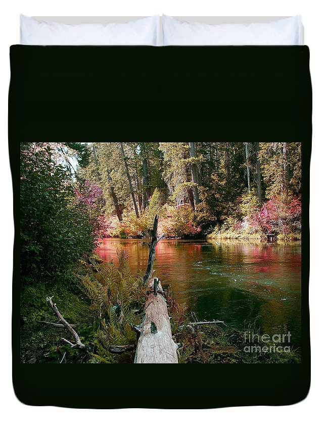 Fall Season Duvet Cover featuring the photograph Creek Fall by Peter Piatt