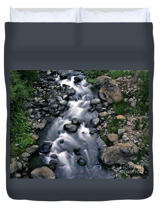 Creek Duvet Cover featuring the photograph Creek Flow by Peter Piatt